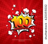 100th anniversary emblem. one... | Shutterstock .eps vector #620355032