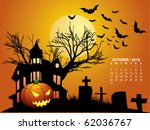 2010 calendar october | Shutterstock .eps vector #62036767