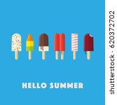hello summer vector... | Shutterstock .eps vector #620372702