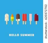 hello summer vector... | Shutterstock .eps vector #620372702