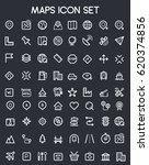 map icon set | Shutterstock .eps vector #620374856