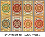 collection retro cards. ethnic... | Shutterstock . vector #620379068