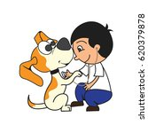 animal care concept  love ... | Shutterstock .eps vector #620379878