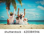 happy family with two kids... | Shutterstock . vector #620384546