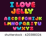 jelly colorful alphabets | Shutterstock .eps vector #620388326