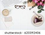feminine workplace | Shutterstock . vector #620392406