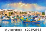 Marsaxlokk Village Harbor Of...