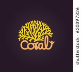 coral logo vector icon design... | Shutterstock .eps vector #620397326