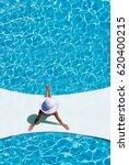 beautiful tanned sporty slim... | Shutterstock . vector #620400215