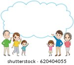 three generations family with... | Shutterstock .eps vector #620404055