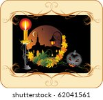 halloween. holiday composition... | Shutterstock .eps vector #62041561