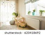 kindergarten room with easel... | Shutterstock . vector #620418692