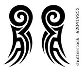 tattoo sketch maori tribal... | Shutterstock .eps vector #620419352