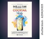 cocktail party flyer.... | Shutterstock .eps vector #620424335