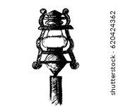 metal lantern streetlight. hand ... | Shutterstock .eps vector #620424362