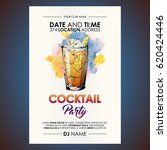 cocktail party flyer.... | Shutterstock .eps vector #620424446