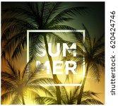 summer banner.summer word on... | Shutterstock .eps vector #620424746