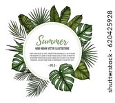 summer tropical exotic template.... | Shutterstock .eps vector #620425928