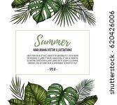 summer tropical postcard... | Shutterstock .eps vector #620426006