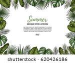 summer tropical postcard... | Shutterstock .eps vector #620426186