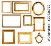 set of   gold frames. isolated... | Shutterstock . vector #620426732