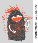 cool vector rock star monster... | Shutterstock .eps vector #620430722
