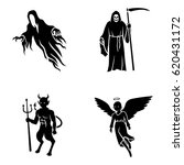 mythical creatures vector icons | Shutterstock .eps vector #620431172