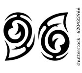 tribal tattoo art designs.... | Shutterstock .eps vector #620432966