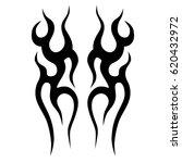 tattoo sketch tribal vector... | Shutterstock .eps vector #620432972