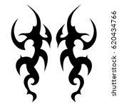 tribal tattoo art designs.... | Shutterstock .eps vector #620434766
