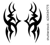 tattoo sketch tribal vector... | Shutterstock .eps vector #620434775