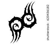 tattoo sketch tribal vector... | Shutterstock .eps vector #620436182