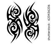 tribal tattoo art designs.... | Shutterstock .eps vector #620436206