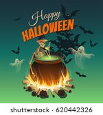 illustration for a halloween... | Shutterstock .eps vector #620442326