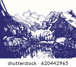 a hand drawn sketch of a... | Shutterstock .eps vector #620442965