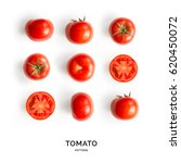 Seamless pattern with tomatoes. ...