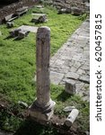 roman doric pillar in city of... | Shutterstock . vector #620457815