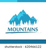 vector logo with mountains and... | Shutterstock .eps vector #620466122