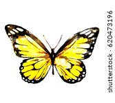 Yellow Butterfly Watercolor...