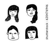 hand drawn people | Shutterstock .eps vector #620476946