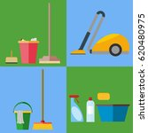 a set of equipment for cleaning ... | Shutterstock .eps vector #620480975