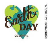 earth day. earth planet in... | Shutterstock .eps vector #620482976
