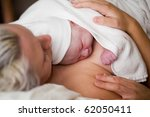 newborn baby girl right after... | Shutterstock . vector #62050411