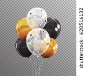 group of colour glossy helium... | Shutterstock .eps vector #620516132
