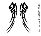 tattoo sketch tribal vector... | Shutterstock .eps vector #620518346
