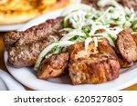 traditional georgian mtsvadi... | Shutterstock . vector #620527805