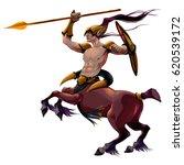 centaur with spear and armor....