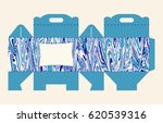 gift box pattern. template. box ... | Shutterstock .eps vector #620539316