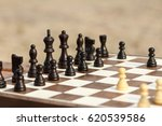 close up wooden chess pieces on ...   Shutterstock . vector #620539586