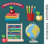 vector illustration of back to... | Shutterstock .eps vector #620541806